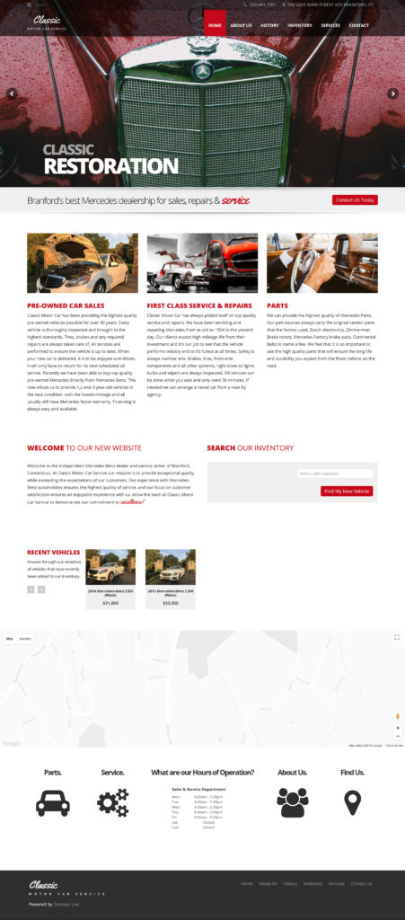 Classic Motor Car Service - Mercedes Benz dealer in Branford CT